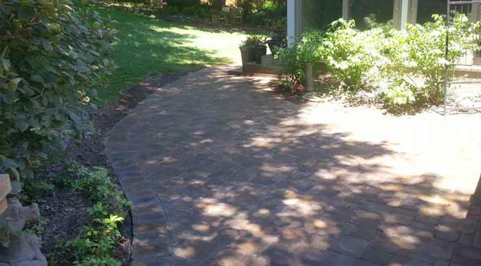Residential Stone Paved Patio and Walkway | Omaha NE
